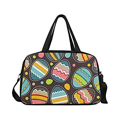 InterestPrint Spring Easter Eggs Duffel Bag Travel Tote Bag Handbag Luggage  chic c0a7975e7e