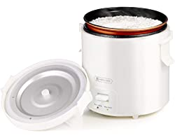1.0L Mini Rice Cooker,WHITE TIGER Portable Travel Steamer Small,15 Minutes Fast Cooking, Removable Non-stick Pot, Keep Warm,
