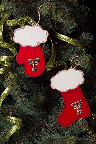 texas tech christmas stocking and mitten ornament set - Texas Tech Christmas Decorations