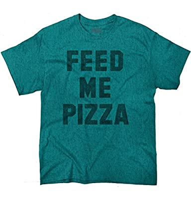 Feed Me Pizza Fashion Tell Me Funny Hipster Foodie Cool Stuff T Shirt