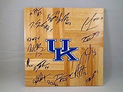 University of Kentucky UK Wildcats 2014-2015 Team Signed 12X12 Wooden Board w/ COA