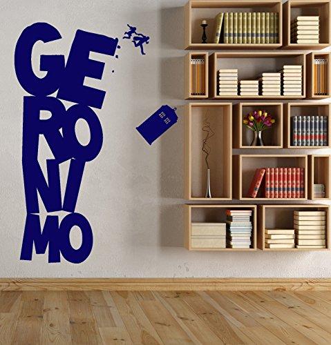 Vinyl Wall Decal Cinema Doctor Who Series Tardis Geronimo Stickers 1570