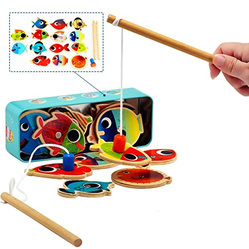 (LEZHI Fun Magnetic Fishing , Fishing Playset (14 Fishes))