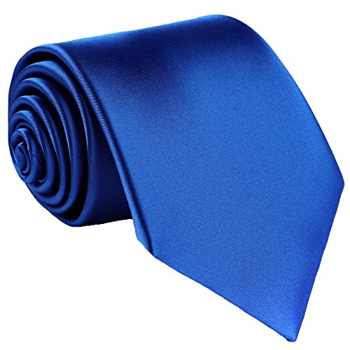 Fortunatever Classical Men's Handmade Extra Long Necktie,Royal Blue Tie With Gift Box ()