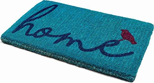Handwoven, Extra Thick Doormat | Entryway Door mat For Patio, Front Door | Decorative All-Season | A Bird Perched on Home | 18'' x 30'' x 1.60'' by Fab Habitat