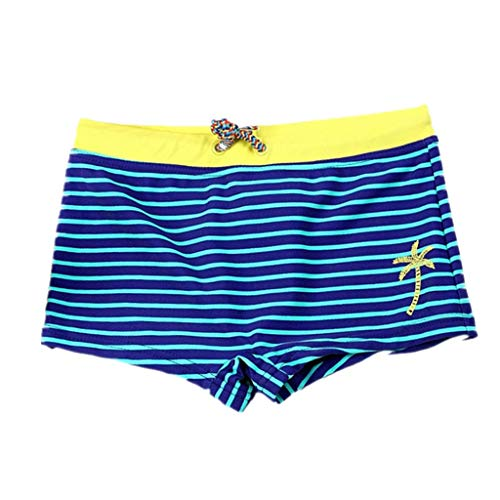 Drindf Baby Clothes Boys Swim Trunks, Striped Stretch Beach Swimsuit 2Y-12Y,Board Shorts Quick Dry Surfing Swimwear Pants,