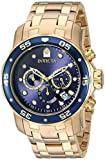Image of Invicta Men's 0073 Pro Diver Collection Chronograph 18k Gold-Plated Watch with Link Bracelet