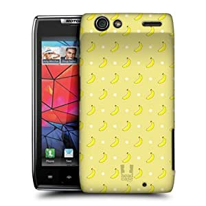 Head Case Designs Banana Micro Fruit Patterns Hard Back Case Cover for Motorola DROID RAZR XT910