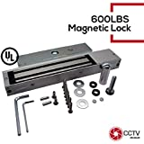 Access Control Magnetic Lock Holding Force Indoor 280KG Door Access System 600 LBS Electromagnetic Lock 12/24VDC Heavy Duty Passed Professional Quality Control With LED Light UL Listed