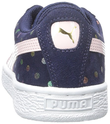Jr Suede big Sneaker Dogwood Dotfetti Peacoat Puma Kid little Kid pink EqxdaxnwT