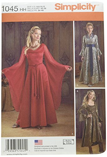 Simplicity Women's Fantasy Dress Halloween, Cosplay, and Ren Faire Sewing Patterns, Sizes 6-12 -