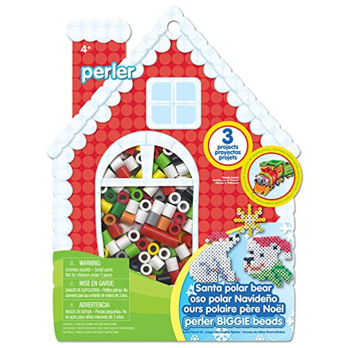 Perler Beads Biggie Bead Fused Bead Kit, Santa Polar (Biggie Kit)