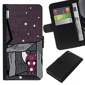 eJoy---La carpeta del tirón la caja de cuero de alta calidad de la PU Caso protector - HTC DESIRE 816 - --Bestia;