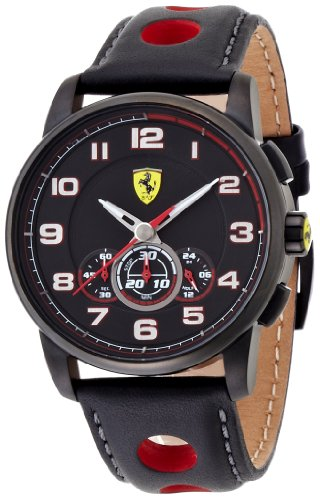 Scuderia Ferrari Gents SF107 'Heritage' Leather Strapped Watch 0830059
