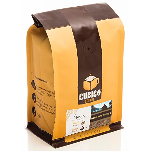 Papua New Guinea Coffee - Whole Bean Coffee - Freshly Roasted Coffee - Cubico Coffee - 16 Ounce (Single Origin Papua New Guinea coffee)