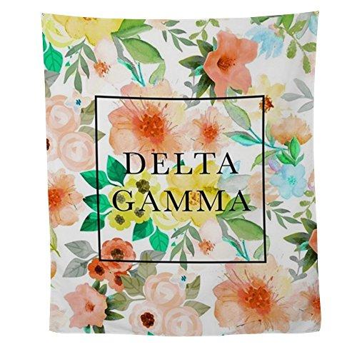 CafePress - Delta Gamma Floral TP - Wall Tapestry