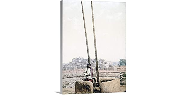 Amazon.com: The Henry Ford Premium Thick-Wrap Canvas Wall Art Print Entitled an Estufa Pueblo of Taos New Mexico Vintage Photograph 12