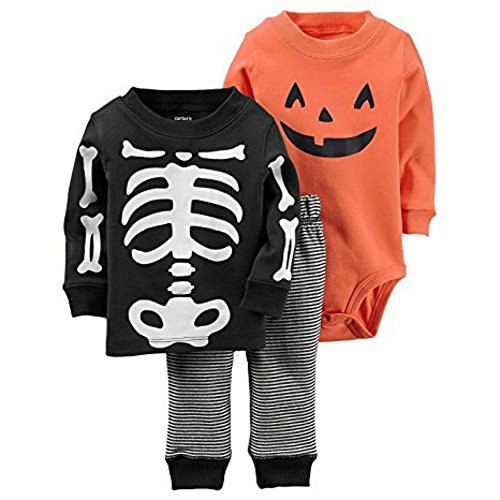 Infant Halloween 3-Piece Set (6 Months, Halloween-Boy)