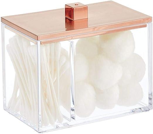 mDesign Organizador de Maquillaje – Caja organizadora para Belleza ...