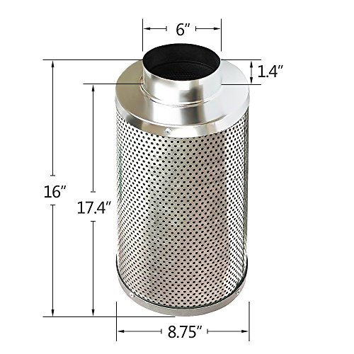 Amagabeli 6 Inch Carbon Filter For Indoor Plants Grow Room