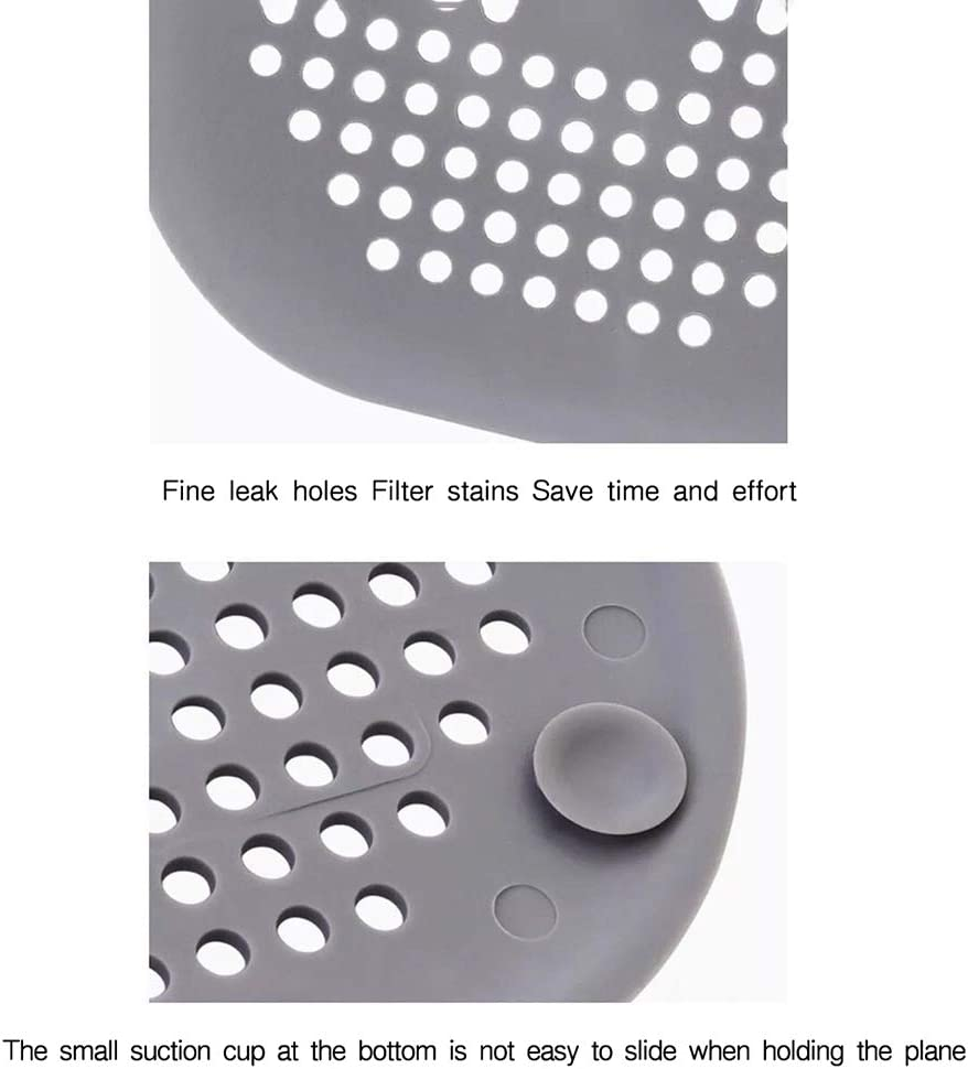 nulala Sink Strainer Silicone Drain Strainer Channel Filter Water Stopper for Kitchen Bathroom