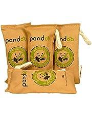 Pandoo natuurlijke bamboe luchtverfrisser met actieve houtskool, luchtreiniger en luchtontvochtiger, luchtreiniger in de kamer en luchtverfrisser, absorbeert geuren en filtert schadelijke stoffen en allergenen