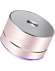 LENRUE Bluetooth Speaker, Mini Portable Speakers with LED Lights, Enhanced Bass, Built-in Mic, 5 Hour Playtime, Wireless Speaker for iPhone, iPad, Samsung, Laptops, Tablets, Car, Home