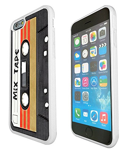 1082 - Cool Fun Mix Tape Cassette Player Retro Music Dance Hip Hop Rnb Boom Box Design iphone 6 6S 4.7'' Fashion Trend Protecteur Coque Gel Rubber Silicone protection Case Coque - Blanc