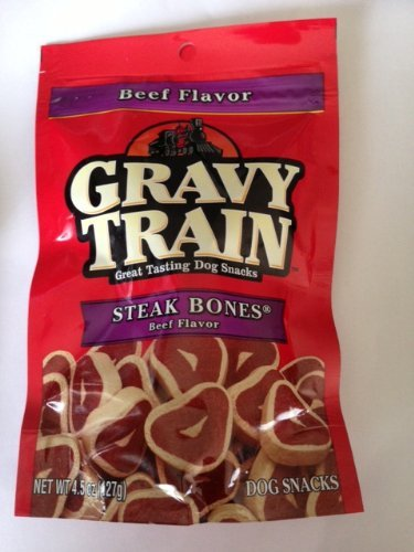 Gravy Train Steak Bones Beef Flavor Dog (Gravy Train Beef Flavor)