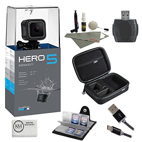 GoPro-HERO-5-Session-Bundle-7-items-64GB-Card-Camera-Case-Accessory-Kit
