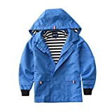 M2C Boys Raincoat Hooded Jacket Outdoor Light Windbreaker 3T Blue