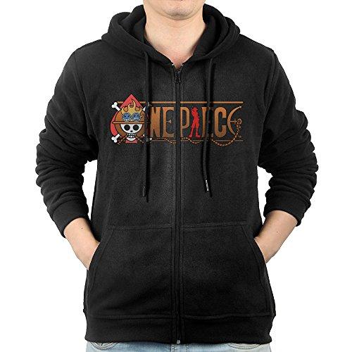 Men Anime Roronoa Zoro One Piece Primary Logo Full Zip Hooded Sweatshirt Pullover