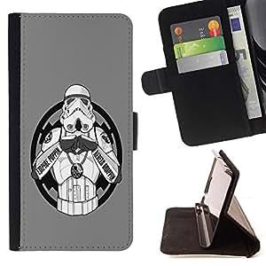 BullDog Case - FOR/HTC Desire 820 / - / Gangster Storm Solider Too /- Monedero de cuero de la PU Llevar cubierta de la caja con el ID Credit Card Slots Flip funda de cuer