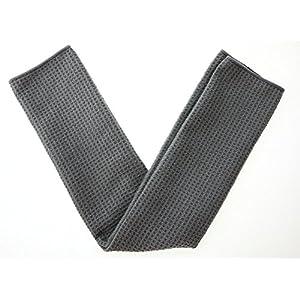 "KLEIESH Microfiber Waffle Weave Kitchen Drying Towels 3 Pack (16""x24"", Grey)"