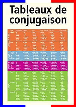 2015 edition A3 French poster teaching aid classroom resources