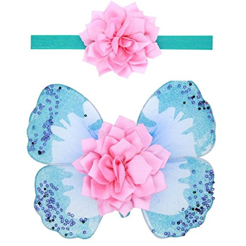 Girls Hair Prop, Misaky Baby Angel Butterfly Wings Photo Prop Girls Hairband