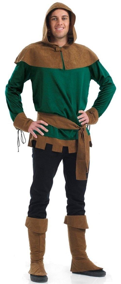 Herren Herren Herren Robin Hood Warrior Hero mittelalterlich büchertag Halloween Kostüm Kleid Outfit S-XL - Grün, Large 049dd1