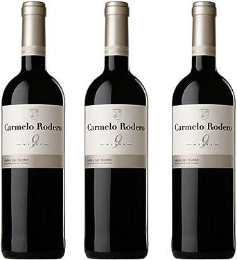 Carmelo rodero Vino tinto - 3 botellas x 750ml - total: 2250 ml: Amazon.es: Alimentación y bebidas