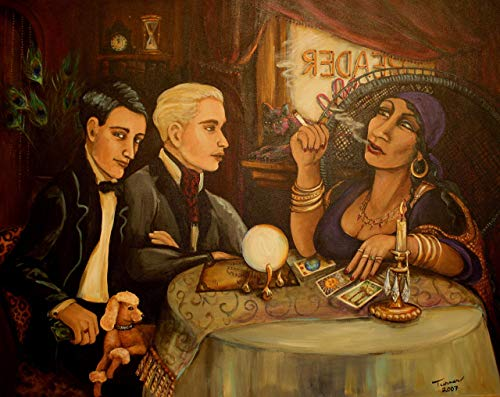 Two Gay Men and a Fortune Teller ~Fine Art Print by Artist CE Turner