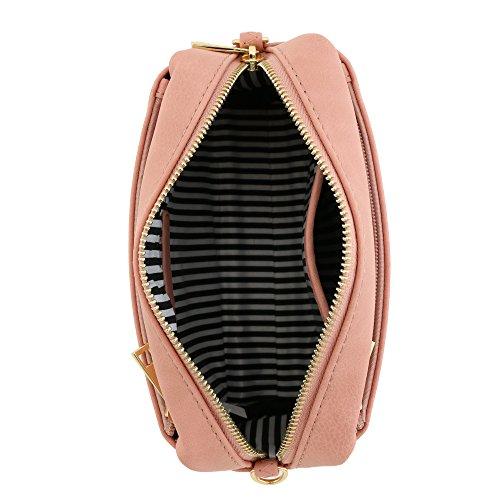 Small Dusty Triple Pink Crossbody Bag Zip 50q0wpxSI4