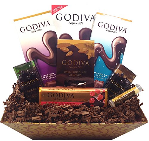 Godiva Dark Decadence Gift Basket with Full Sized Items