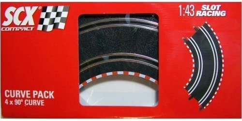 4 Straight Track Pieces 9 Inches SCX 1//43 Compact