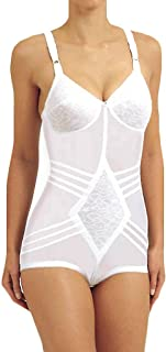 product image for Rago Women's Shapette Body Briefer with Contour Bands 9051 40C White