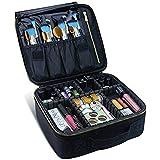 Travel Makeup Case,Chomeiu- Professional Cosmetic Makeup Bag Organizer Makeup Boxes With Compartments Neceser De Maquillaje(B