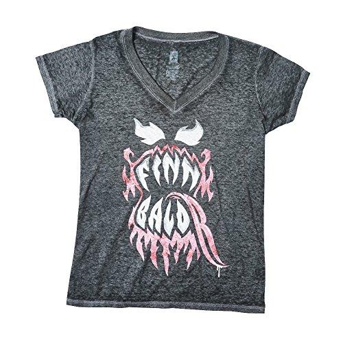 """WWE Finn Bàlor """"Bàlor Club Worldwide Acid Wash Women's T-Shirt Black 2XL by WWE Authentic Wear"""