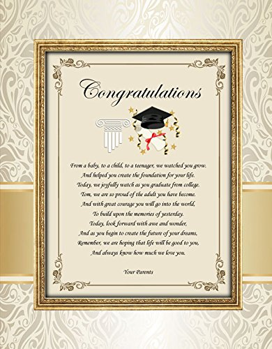 amazon com graduation congratulations poetry print for high school