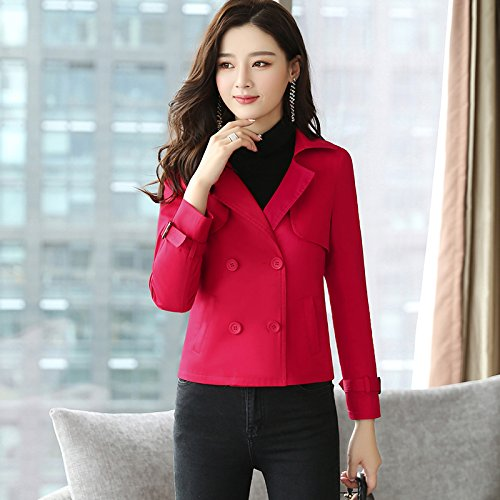 And Jacket Short Women'S Sleeves Of Red Stylish Wind Jackets amp; Female Coats SCOATWWH Look AB4Wxxn