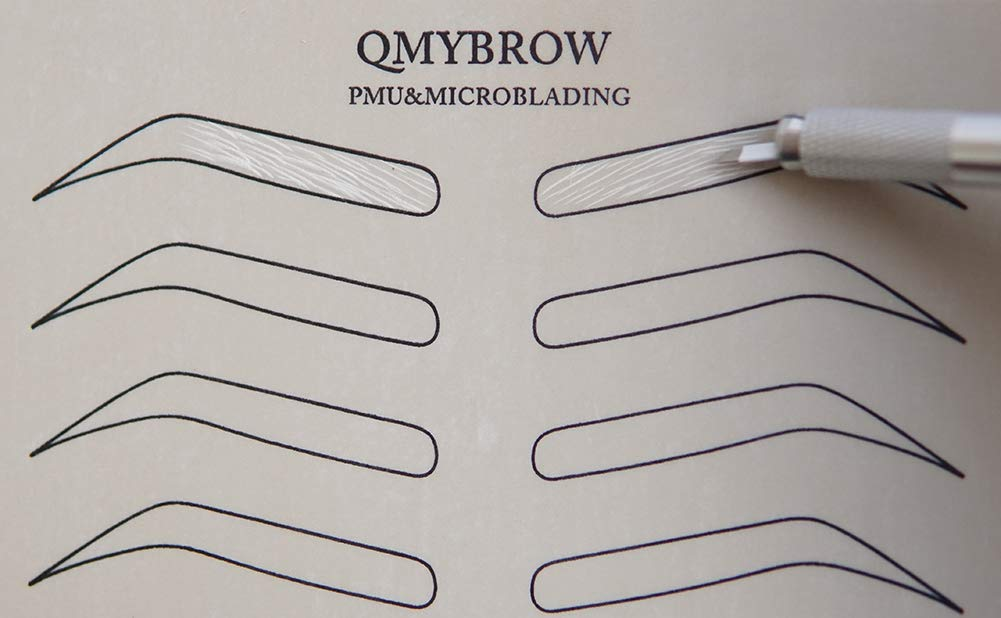 QMYBROW Microblading Practice Skin 10pcs Pre-Sharped No ink Needed Outline Permanent Makeup Eyebrow Comestic Training Skins