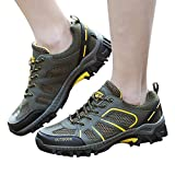 Farjing Lovers Men Women Outdoor Mesh Shoes Casual Lace Up Comfortable Running Mountaineering shoes(US:8.5,Army Green(men))