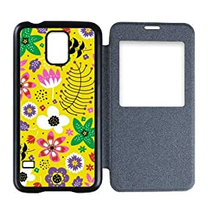 Custom Samsung Galaxy S5 Flip Cover Case with Sweet Citrus Pattern sweethome321-1235